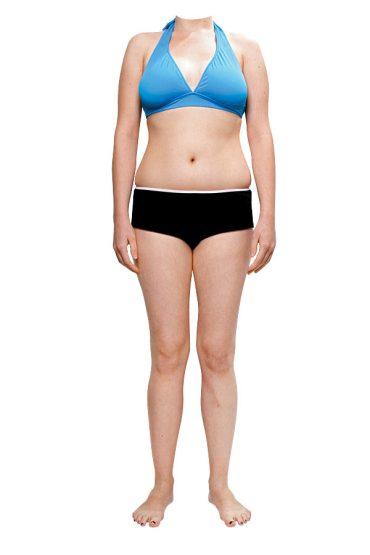 Skinny fat woman